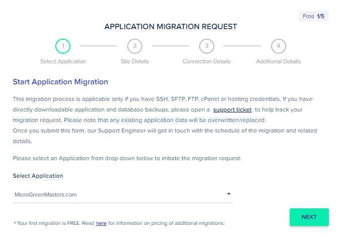 Cloudways Free Migration Request