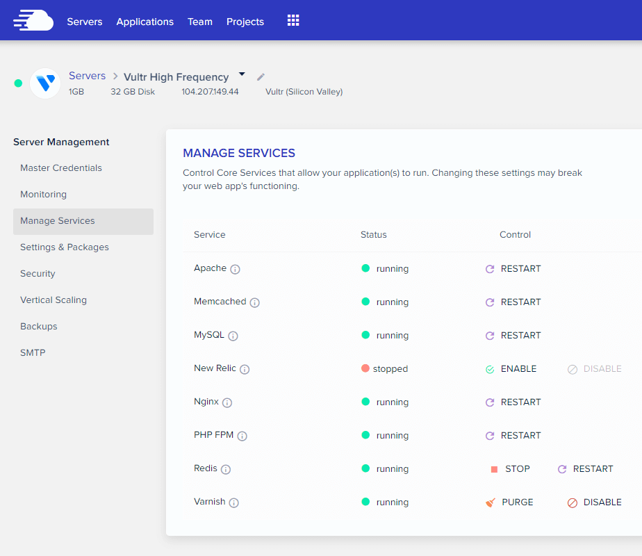 Cloudways-Servers-Dashboard