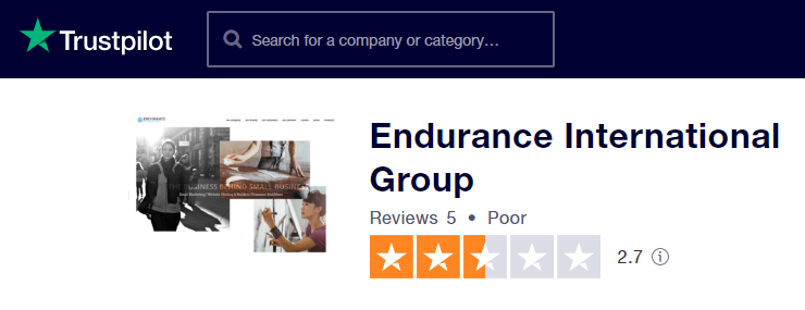 Endurance International Group TrustPilot