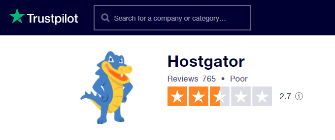 HostGator TrustPilot Review
