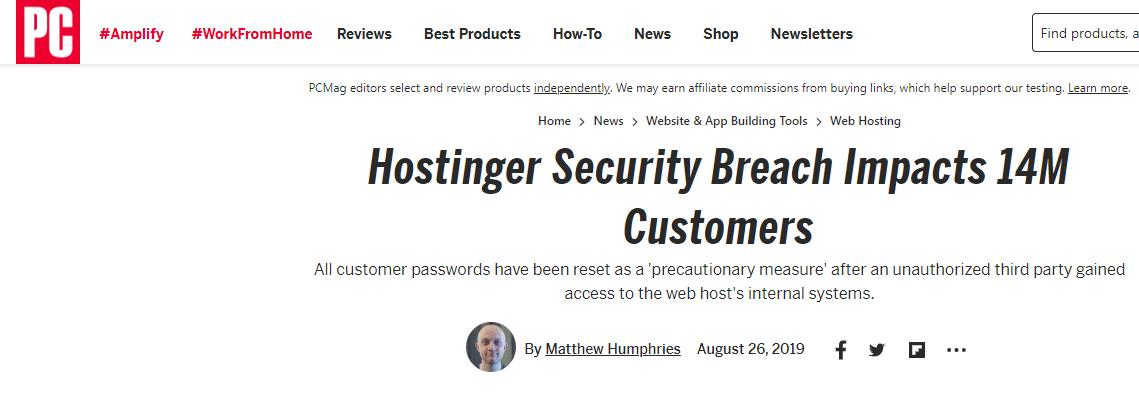 Hostinger Security Breach