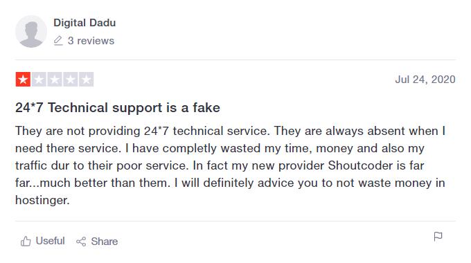 Hostinger Support Review 4