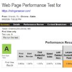 Hostinger WebPageTest