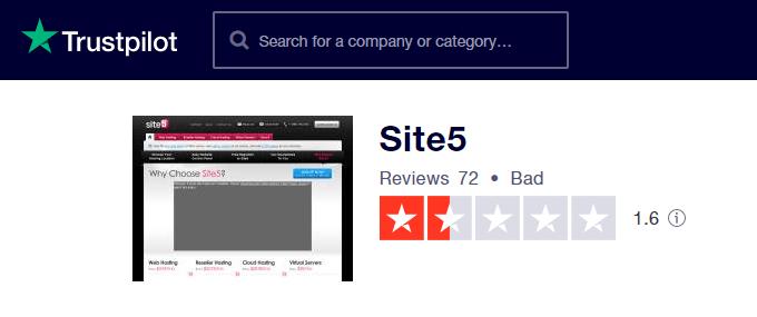 Site5 TrustPilot Review