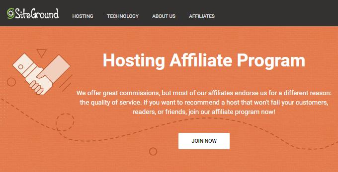 SiteGround Affiliate Program