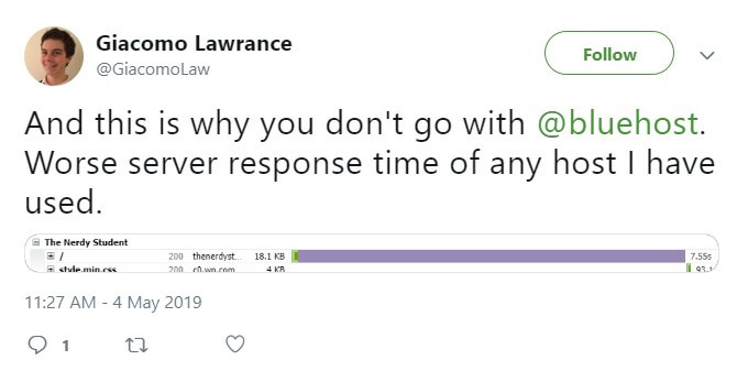 Slow Bluehost Server Response Time