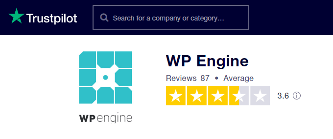 WP-Engine-TrustPilot-Reviews