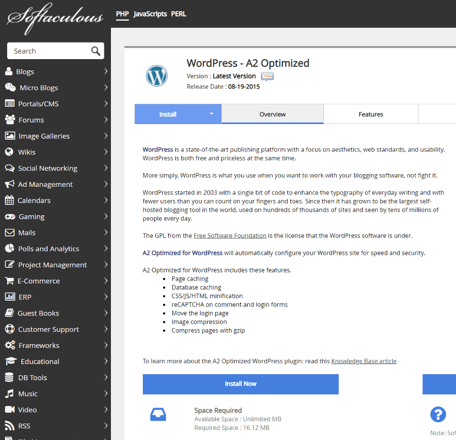 WordPress A2 Optimized