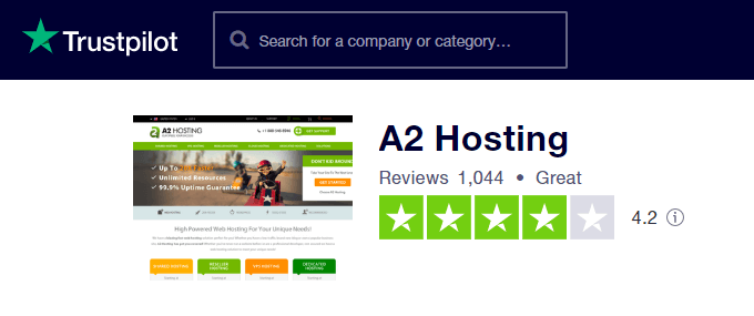 A2-Hosting-TrustPilot-Reviews