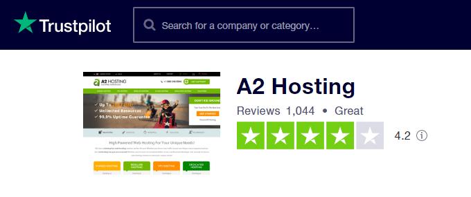 A2-Hosting-TrustPilot-Reviews