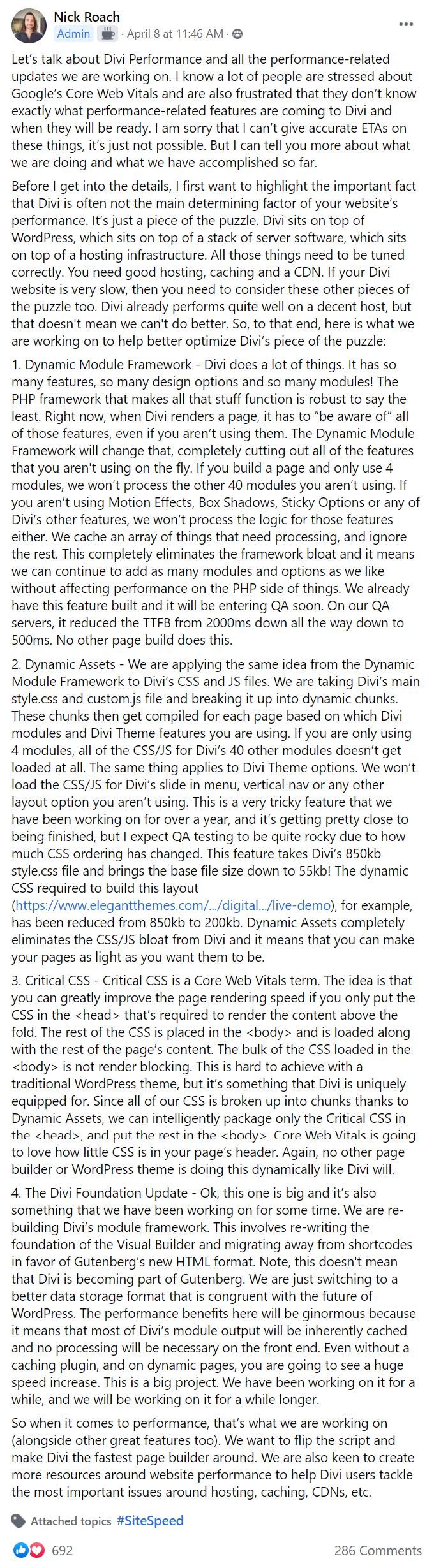 Divi And Core Web Vitals