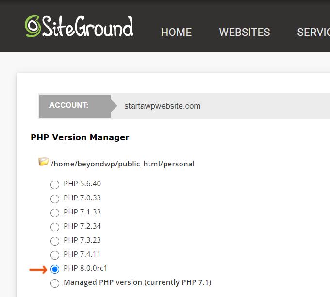SiteGround-PHP-8.0
