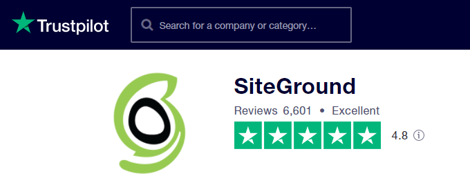 SiteGround-TrustPilot-Reviews