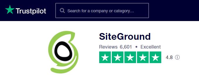 SiteGround-TrustPilot-Reviews