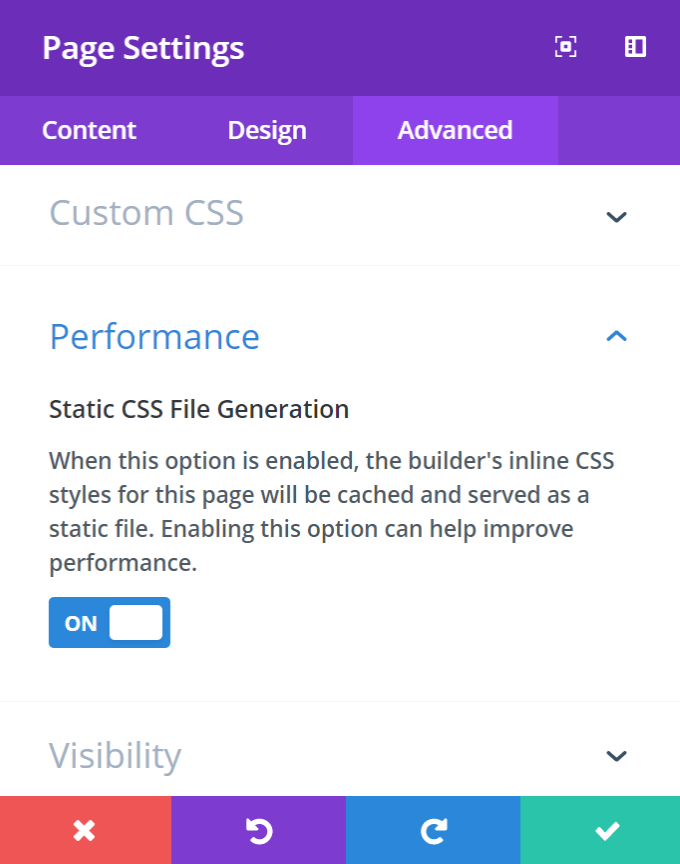 Divi Static CSS File Generation