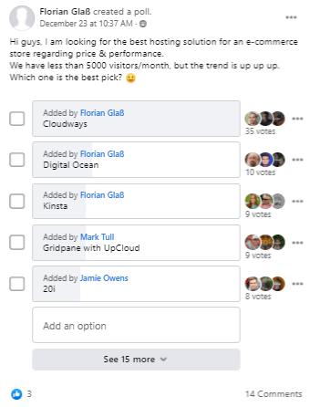 eCommerce Hosting Poll