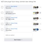 Best cache plugin facebook poll