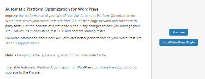 Cloudflare Automatic Platform Optimization