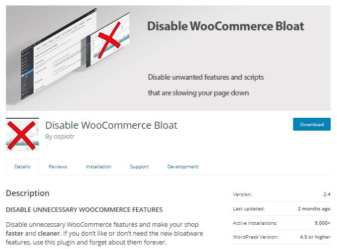 Disable-WooCommerce-Bloat-Short
