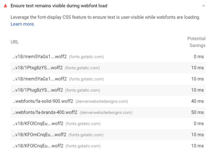 Ensure text remains visible during webfont load
