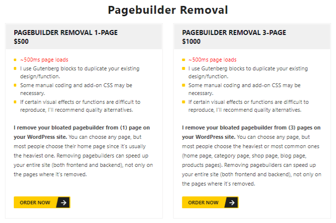 WP Johnny Page Builder Removal Service