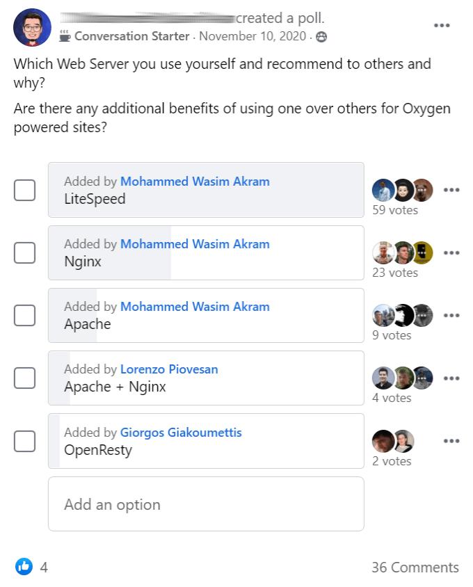 Web Server Poll