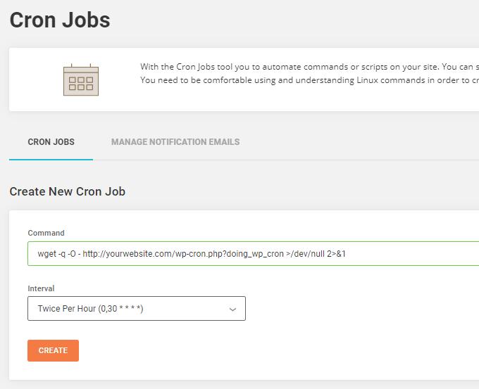 SiteGround Cron Job