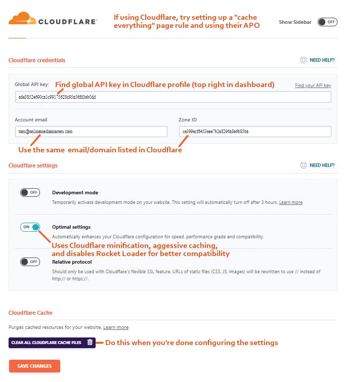 WP Rocket Cloudflare 2021