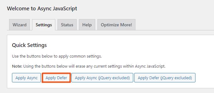 Async JavaScript Apply Defer