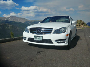 My first car, a Mercedes c300 (cheapest one on the lot!)
