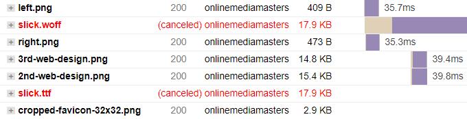 GTmetrix Canceled Errors