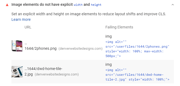 Image elements do not have explicit width and height