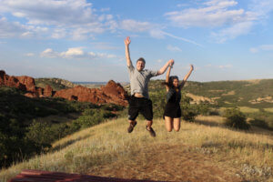 Jumping in Roxborough State Park