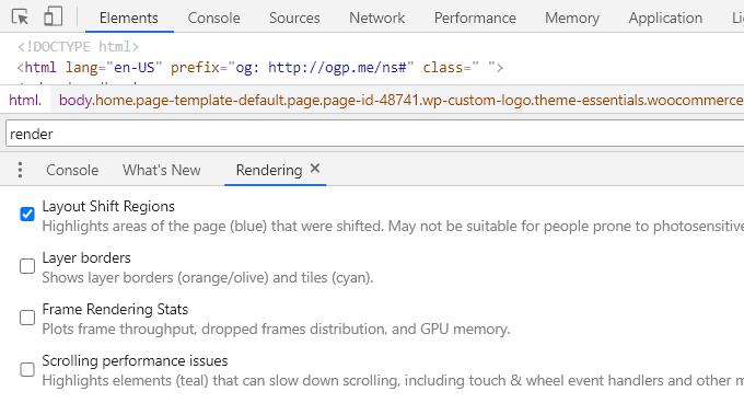 Layout-Shift-Regions-Chrome-Dev-Tools