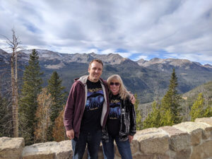 Mom and I in Rockies