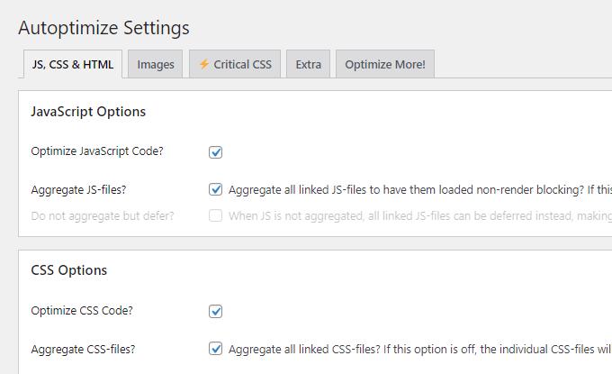 Optimize Aggregate JavaScript CSS