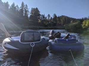 Tubing in Colorado River
