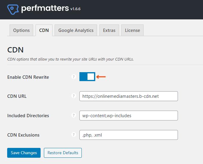 WordPress CDN Rewrite