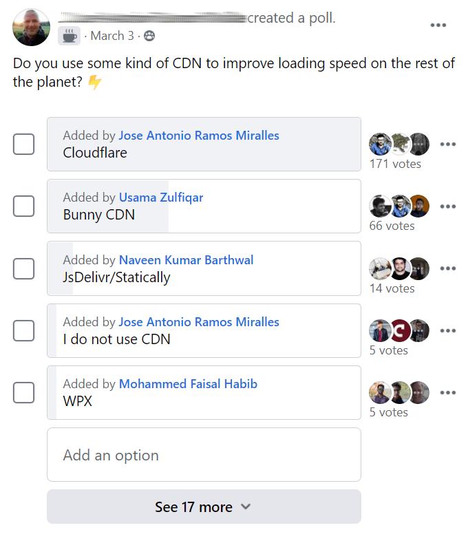 CDN Facebook poll