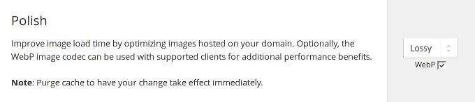 Cloudflare Polish - WebP