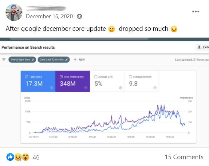 Google core algo update