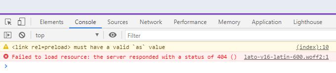 Preload key request errors