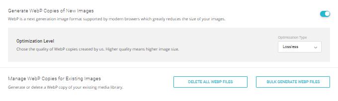 WebP Images - SG Optimizer