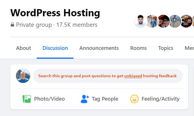 WordPress-Hosting-Facebook-Group