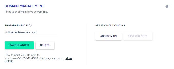 Cloudways Add Domain