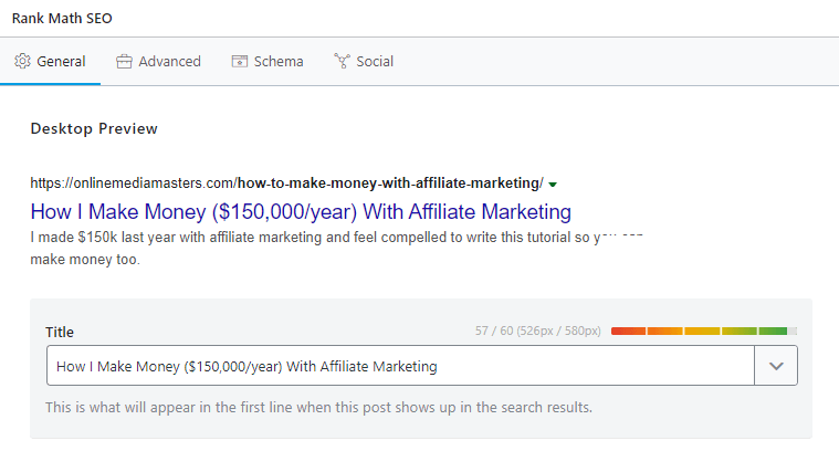 WordPress SEO Title - Rank Math