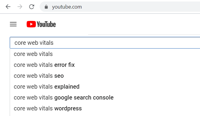 YouTube Keywords