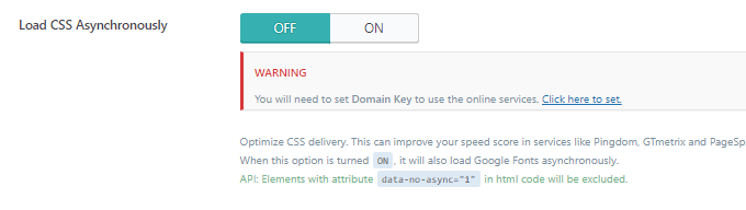Disable Load CSS Asynchronously LiteSpeed