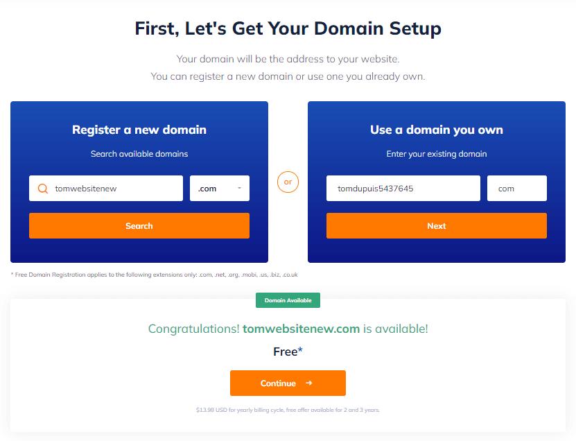 NameHero Domain Setup