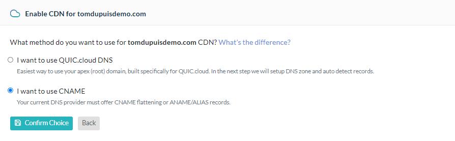 QUIC.cloud CDN Setup